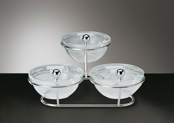 buffet stand bowl glas 14 cm, 3 x 0,5 Ltr