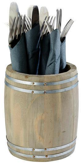 houten vaatje Ø 11,5 x 13,5 cm