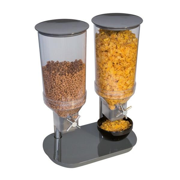 cereal dispenser 2 x 4,5 Ltr zwart