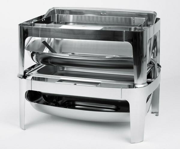 chafing dish rolltop 18/10 voedselpan 1/1 GN 65 mm stapelbaar