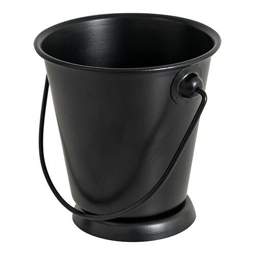 serveer emmer metaal zwart Ø 9,5 x 9(h) cm