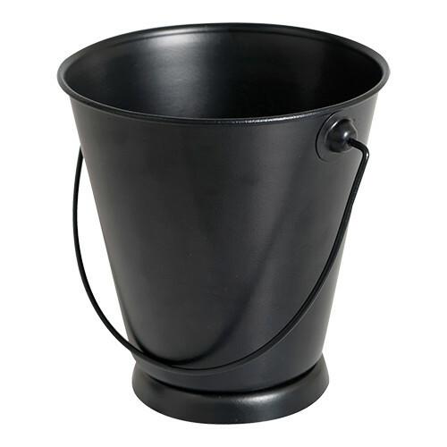 serveer emmer metaal zwart Ø 13 x 12,5(h) cm