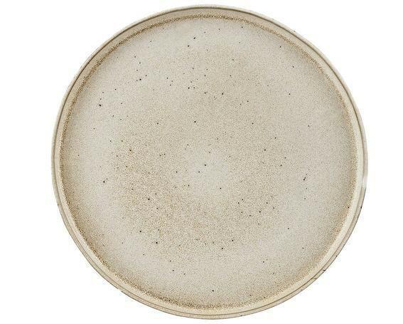 Q Authentic Stonewhite bord opstaande rand 26,5 cm