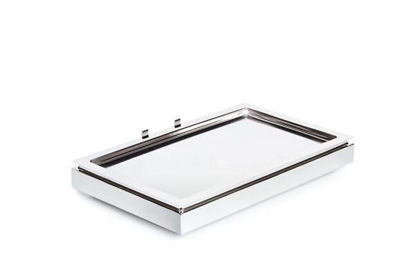 Frames gekoelde serveerschaal 1/1 GN 3-delige set edelstaal