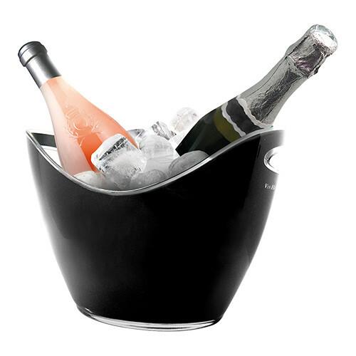 champagnekoeler kunststof 27 x 20 x 21(h) cm zwart