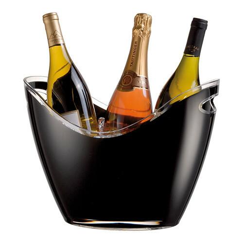 champagnekoeler kunststof 35 x 27 x 25,5(h) cm zwart