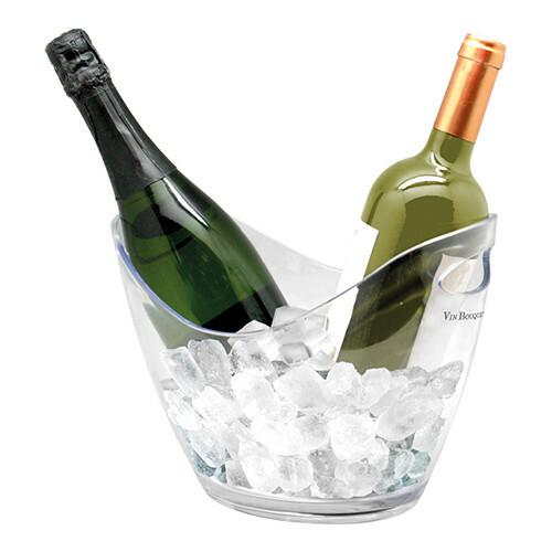 champagnekoeler kunststof 27 x 20 x 21(h) cm helder