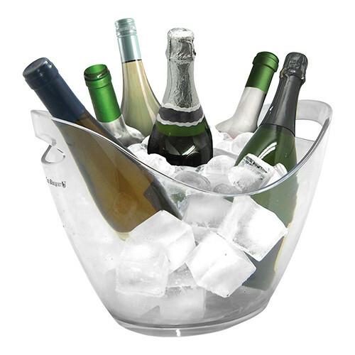 champagnekoeler kunststof 35 x 27 x 25,5(h) cm helder