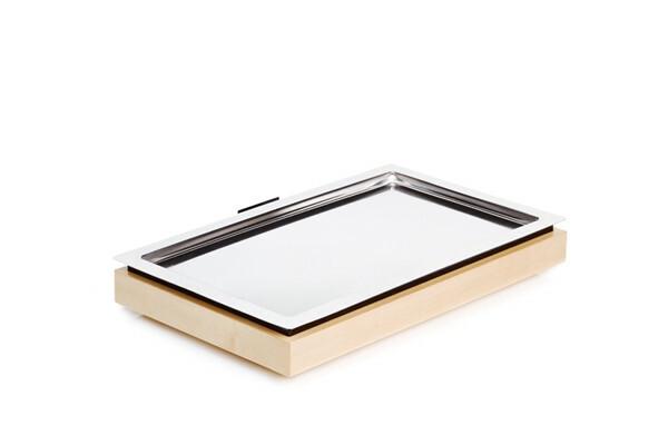 Frames gekoelde serveerschaal 1/1 GN 3-delige set ahorn