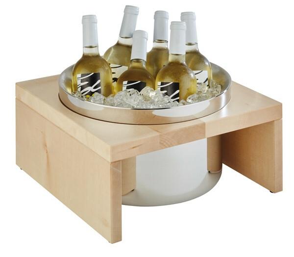 Bridge flessenkoeler 2-delige set ahorn
