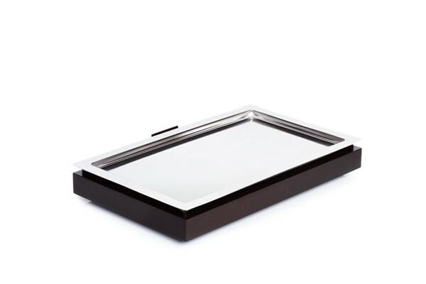 Frames gekoelde serveerschaal 1/1 GN 3-delige set wenge