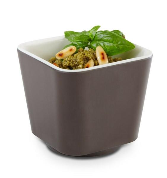 APS melamine + Universal bowl 6,5 x 6,5 x 6(h) cm bruin-creme