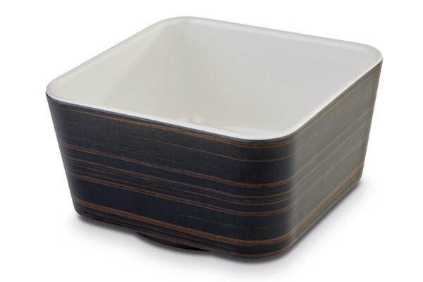 APS melamine + Universal bowl 13 x 13 x 7(h) cm oak-creme