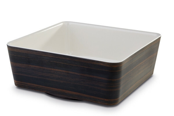 APS melamine + Universal bowl 24 x 24 x 9(h) cm oak-creme