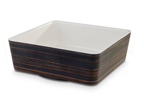 APS melamine + Universal bowl 26,5 x 26,5 x 9(h) cm oak-creme
