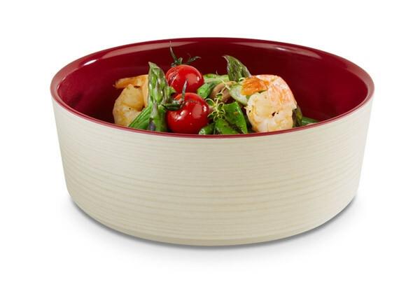 APS melamine + Universal bowl Ø 20 x 7(h) cm rood-creme