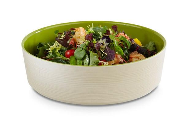 APS melamine + Universal bowl Ø 32,5 x 9(h) cm groen-creme