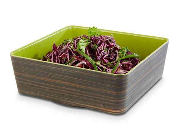 APS melamine + Universal bowl 26,5 x 26,5 x 9(h) cm oak-groen