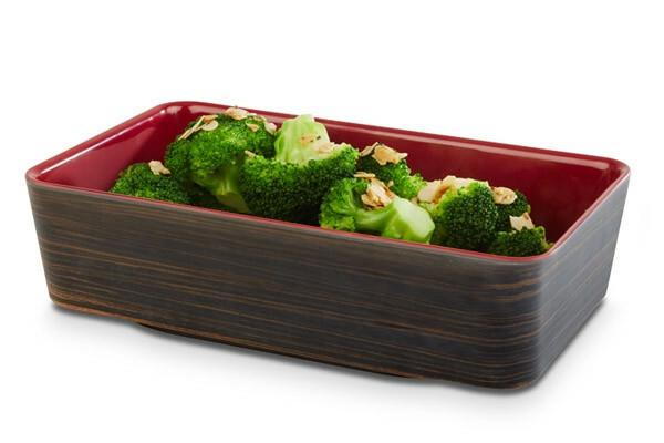 APS melamine + Universal bowl 26,5 x 16,2 x 7(h) cm oak-rood