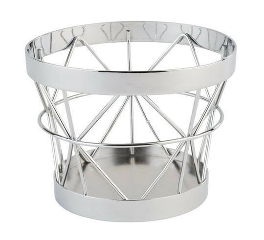 buffetkorf Baskets metaal chroom Ø 21/15 x 11(h) cm