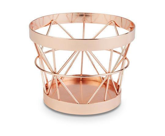 buffetkorf Baskets metaal koper Ø 10,5/8 x 8(h) cm