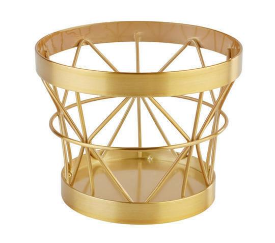 buffetkorf Baskets metaal goud Ø 10,5/8 x 8(h) cm