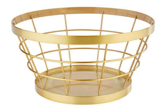 buffetkorf Baskets metaal goud Ø 21/15 x 11(h) cm