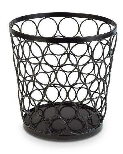 buffetkorf Baskets metaal zwart Ø 21/15 x 21(h) cm