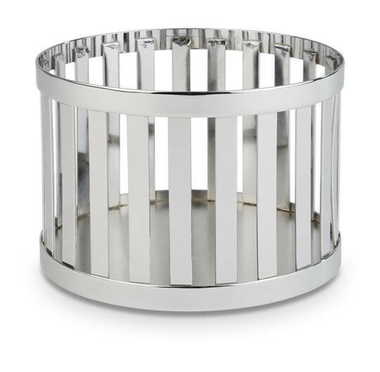 buffetkorf Baskets metaal chroom Ø 15 x 10,5(h) cm