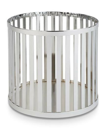 buffetkorf Baskets metaal chroom Ø 21 x 20(h) cm