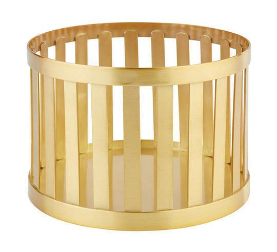 buffetkorf Baskets metaal goud Ø 15 x 10,5(h) cm