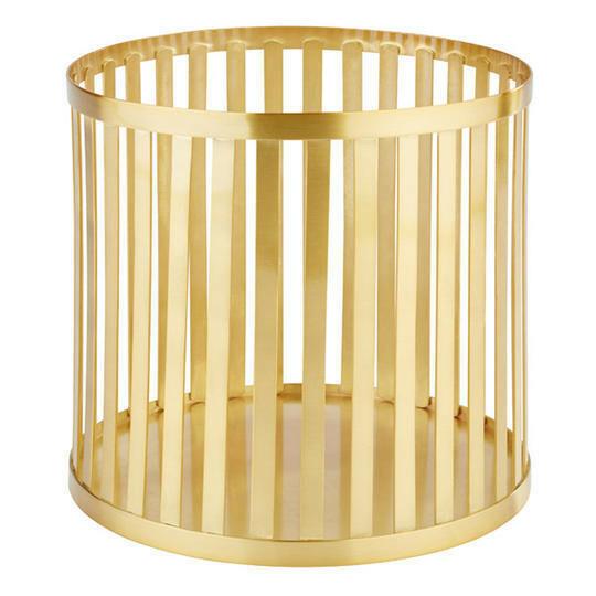 buffetkorf Baskets metaal goud Ø 21 x 20(h) cm