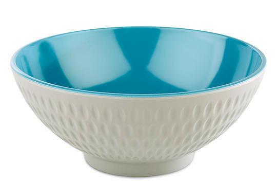 APS melaminie Asia Plus bowl Ø 16 x 7(h) cm blauw/wit