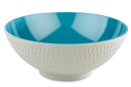 APS melaminie Asia Plus bowl Ø 24 x 9,5(h) cm blauw/wit