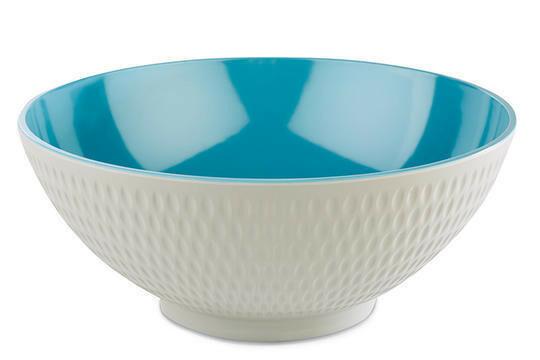 APS melaminie Asia Plus bowl Ø 26,5 x 11(h) cm blauw/wit
