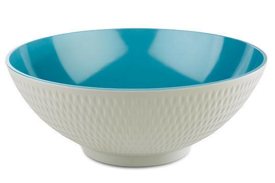 APS melaminie Asia Plus bowl Ø 32,5 x 12,5(h) cm blauw/wit