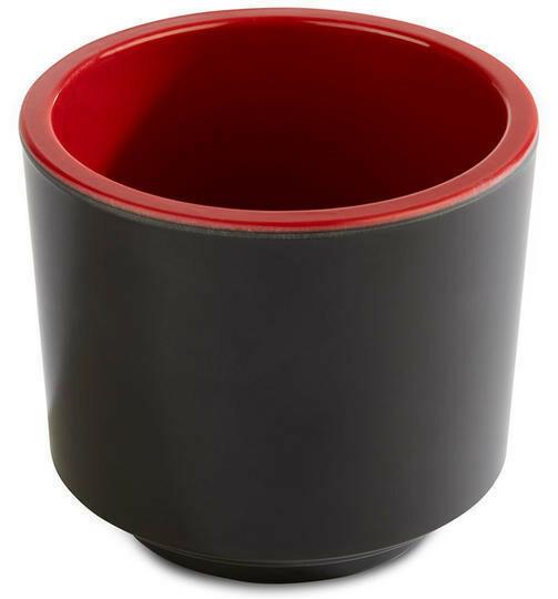 APS melamine Bento Box bowl Ø 7,5 x 6,5(h) cm rood/zwart