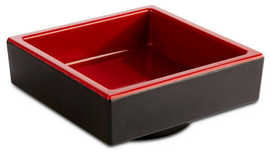 APS melamine Bento Box bowl 7,5 x 7,5 x 3(h) cm rood/zwart