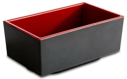 APS melamine Bento Box bowl 15,5 x 9,5 x 6,5(h) cm rood/zwart