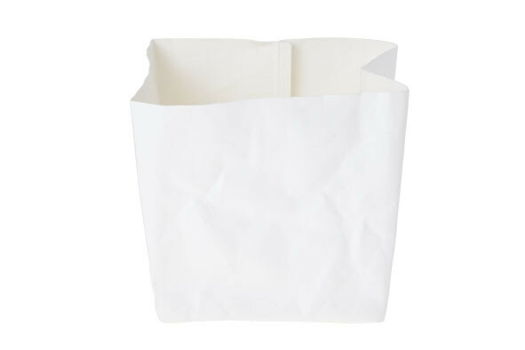 Ecosy broodzak wit craft papier 14 x 14 x 15(h) cm