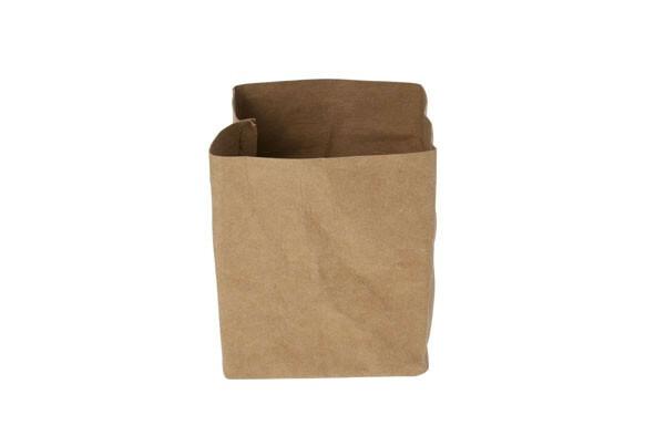 Ecosy broodzak bruin craft papier 10 x 10 x 12(h) cm