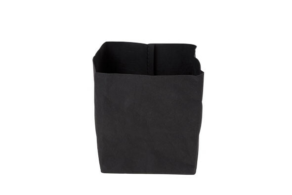 Ecosy broodzak zwart craft papier 10 x 10 x 12(h) cm