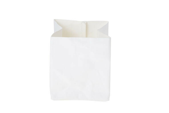Ecosy broodzak wit craft papier 10 x 10 x 12(h) cm