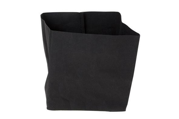 Ecosy broodzak zwart craft papier 14 x 14 x 15(h) cm