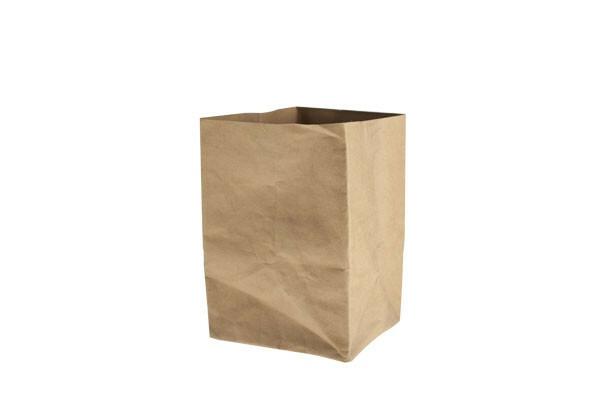 Ecosy broodzak bruin craft papier 19 x 19 x 28(h) cm