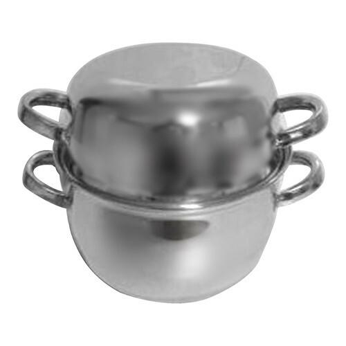 mosselpan RVS met deksel Ø 20 cm 2 Kg