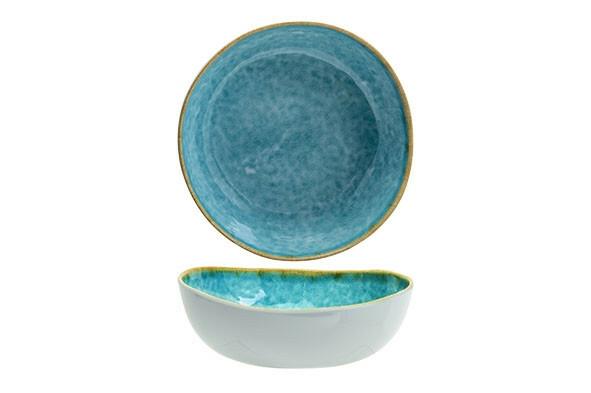C & T melamine Laguna Azzurro bowl 21 x 19 x 6(h) cm