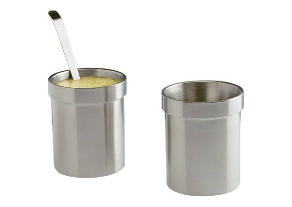 dressing pot dubbelwandig RVS 1,8 ltr
