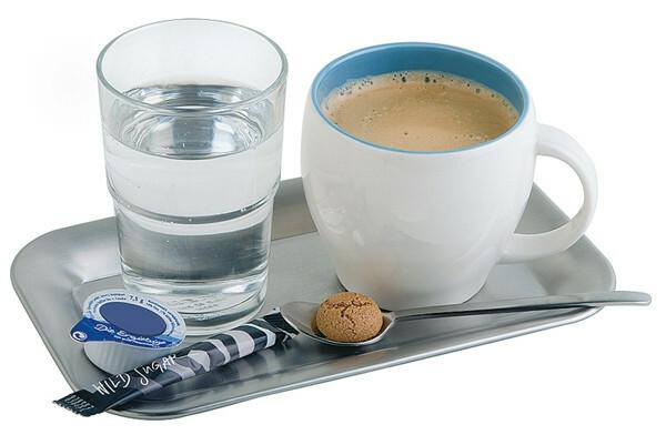 koffieplateau edelstaal 21,5 x 13 cm mat