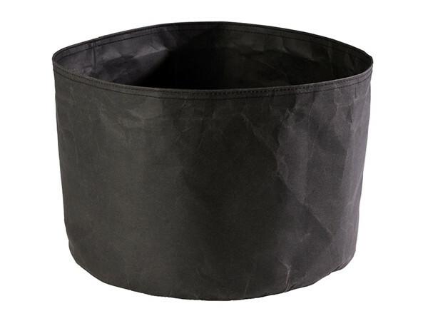 broodzak donkerbruin craft papier Ø 30 x 22(h) cm